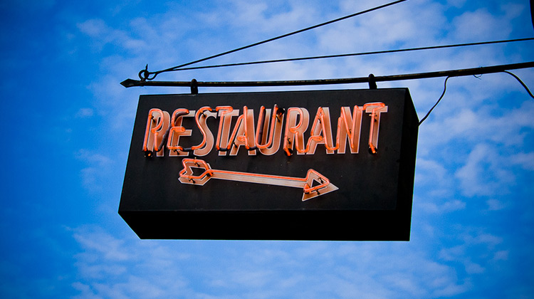 Image of a neon restaurant sign