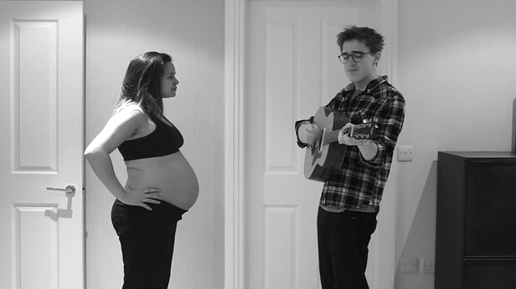 Tom Fletcher and Wife Giovanna sing love song to Buzz during pregnancy