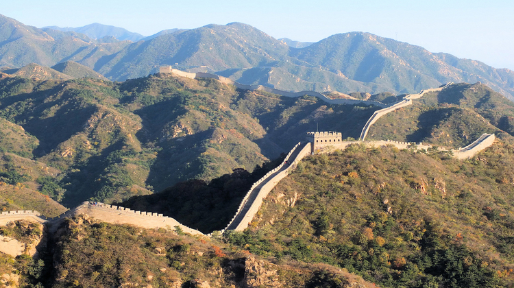 great wall of china from a distance