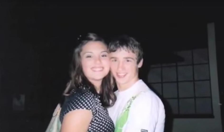 Kelcie and Larry at highschool dance