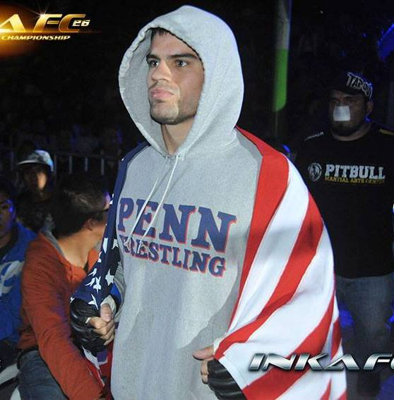 rollie with a flag pre fight