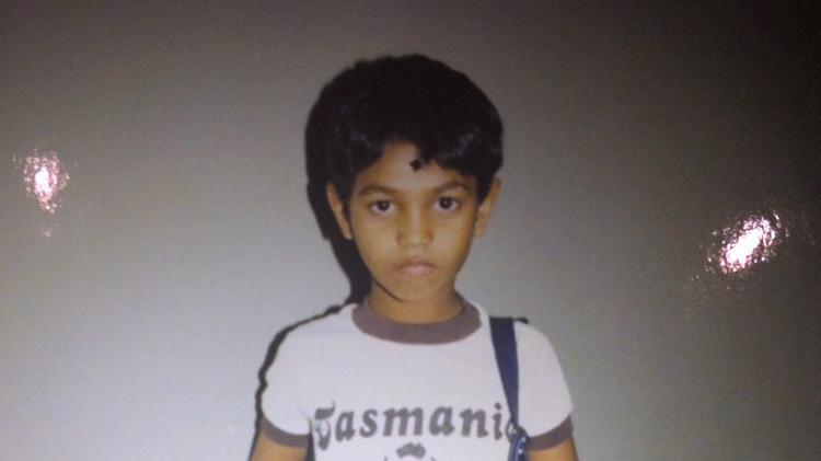 Saroo Brierley as young boy