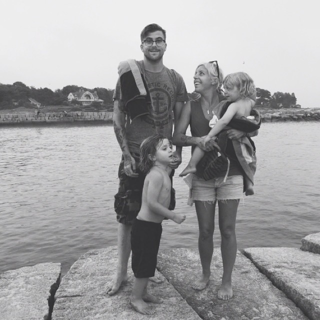 Anthony Green, musician, with wife and kids