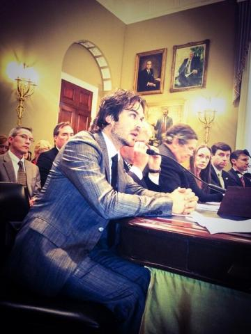 Ian speaking in front of the US Congress