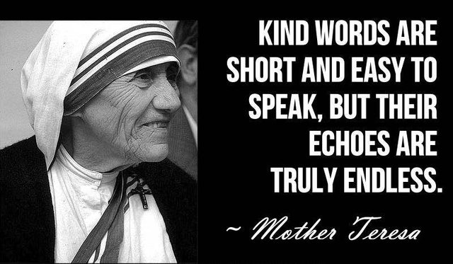 kind words by Mother Theresa