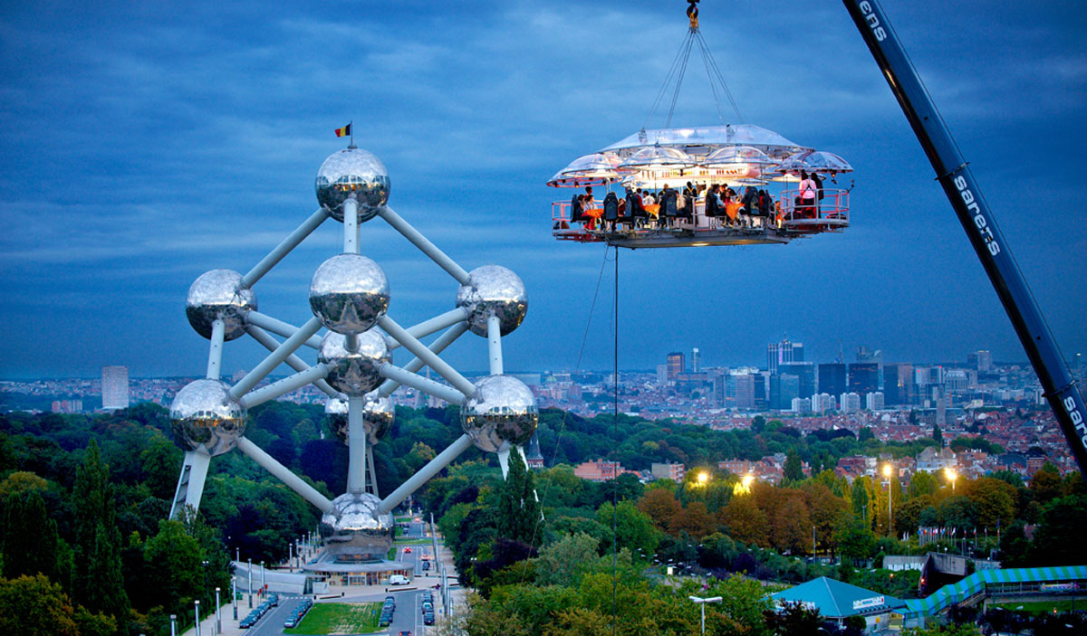 Dinner in the Sky Brussels 2012