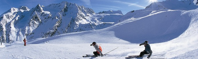 skiing in the swiss alps