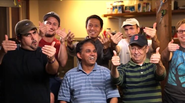 image of friends at Deaf Film Camp