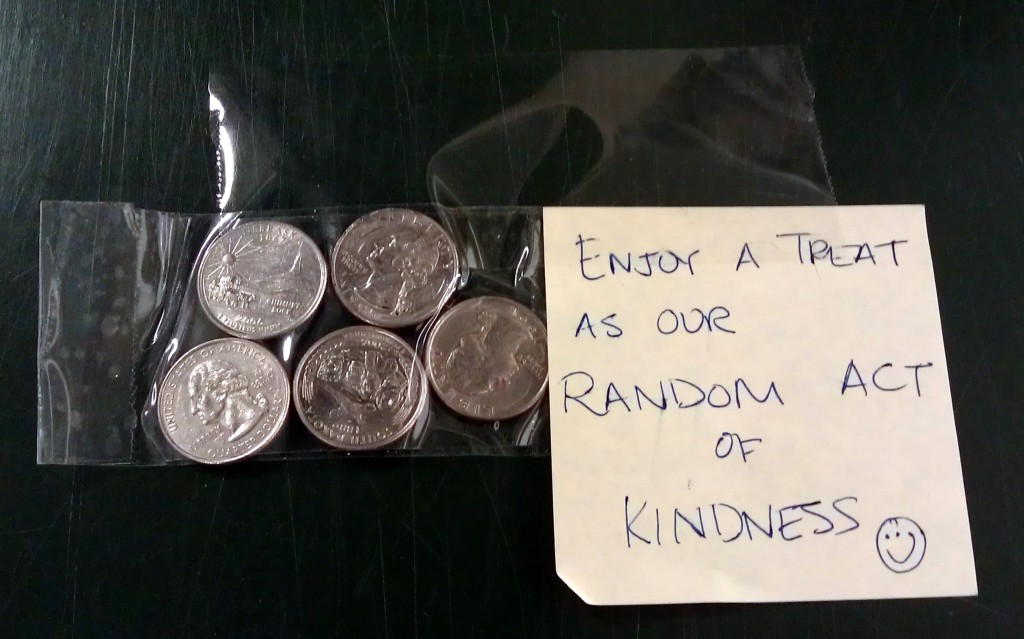 coins kindness