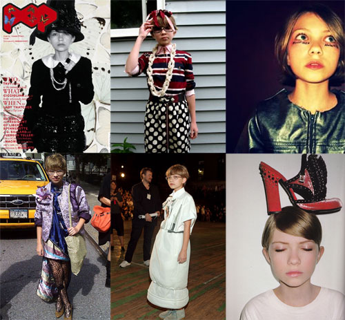 tavi gevinson picstitch of top looks from style rookie