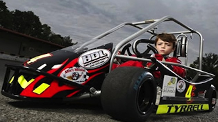 timmy tyrell, racecar driver, raising money for cancer research, jeff gordon, kickball tournaments