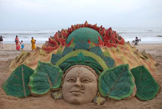 colorful sand art