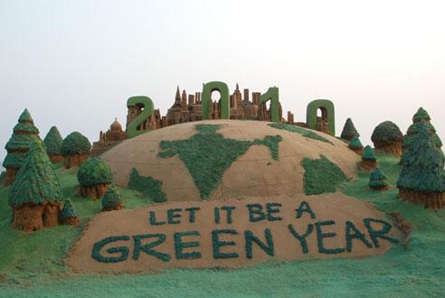 go green sand art