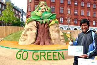 sand sculpture go green