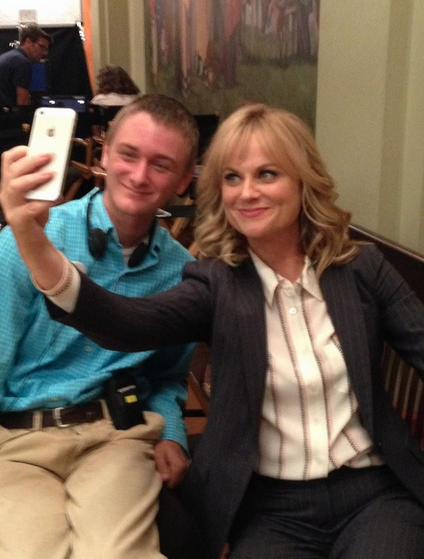 make a wish recipient with actress amy poehler