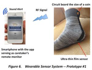 sock sensor for alzheimer's patients