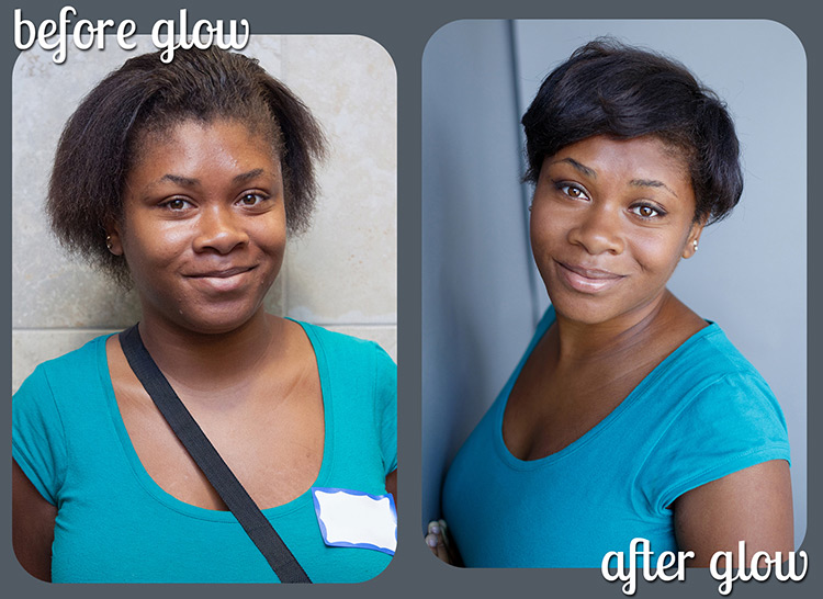 LaShawn looking gorgeous in before and after pics