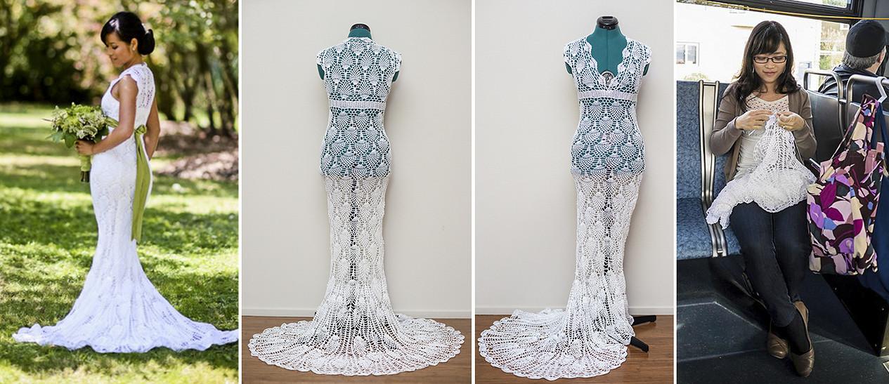 alternative news, chi krneta of seattle makes her own wedding dress