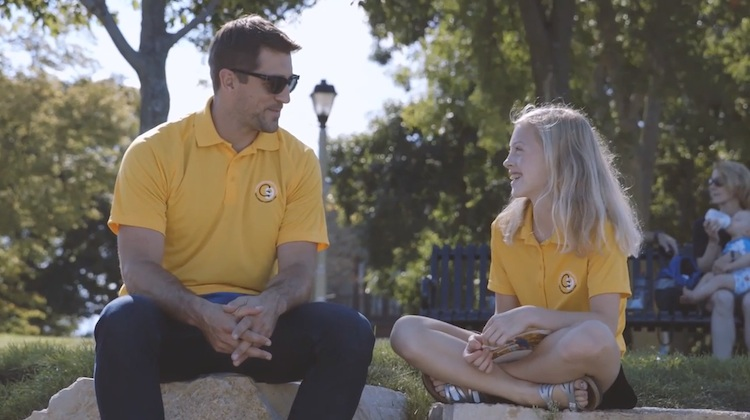 aaron rodgers and 11 year old annie of gold in september