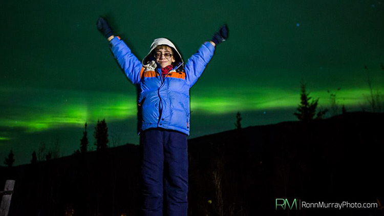 Ben Pierce visiting the Northern Lights in Alaska