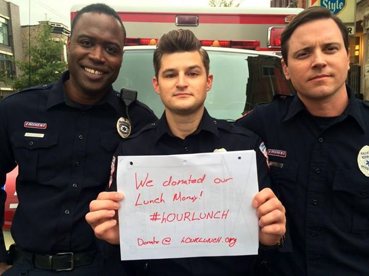 USA tv stars do hOURLUNCH and donate