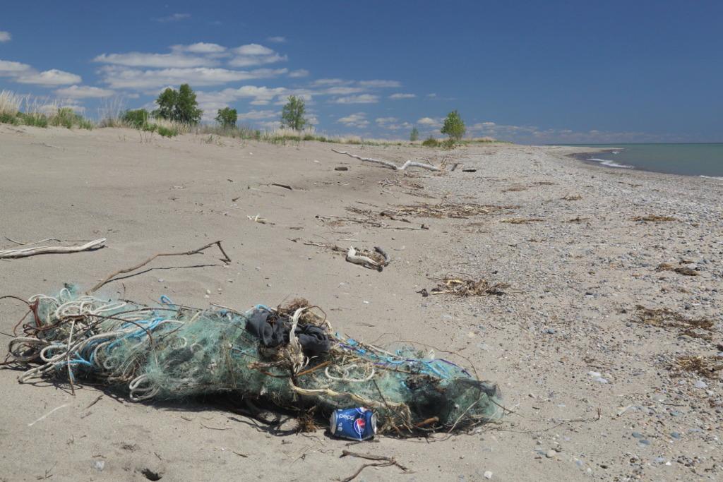 debris on the beach, manmade issue