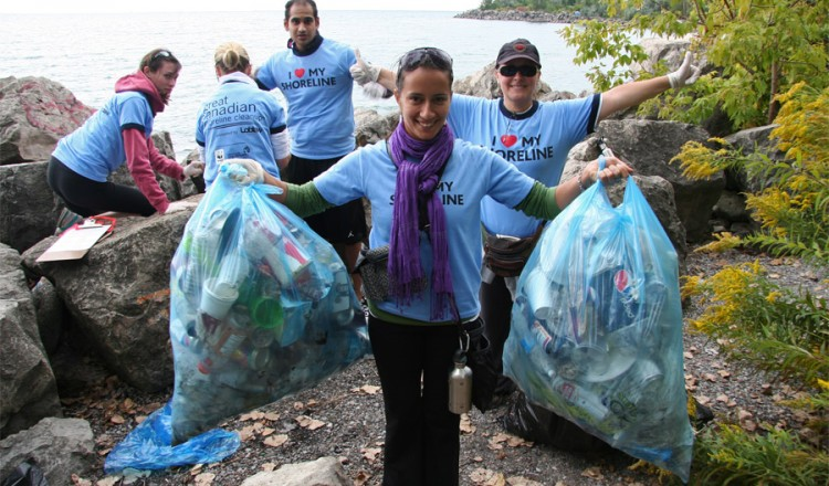 toronto kickoff of great canadian shoreline cleanup