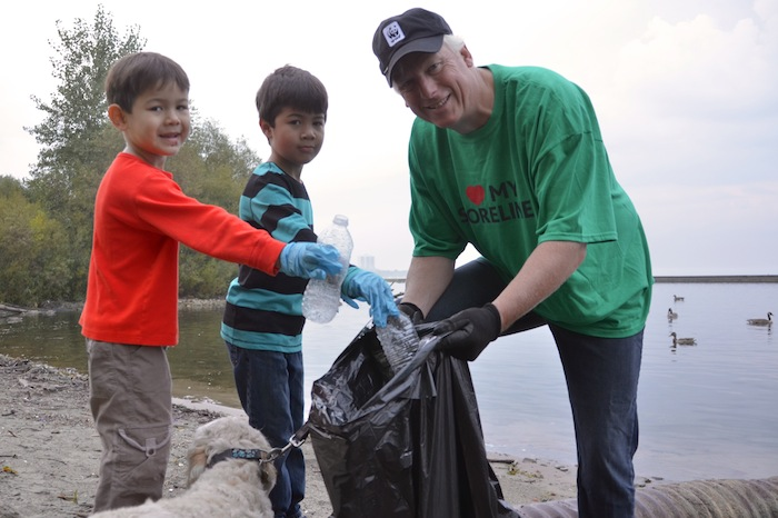 shore cleanup, kids participated
