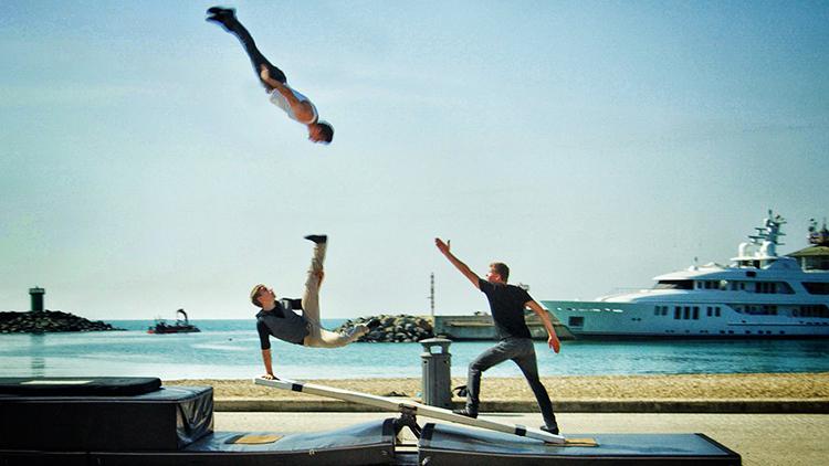 teeterboard acrobats
