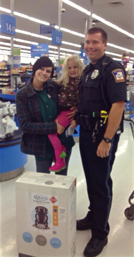DeLorenzo, daughter, and officer Hall