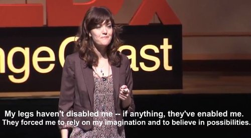 amy purdy giving ted talk