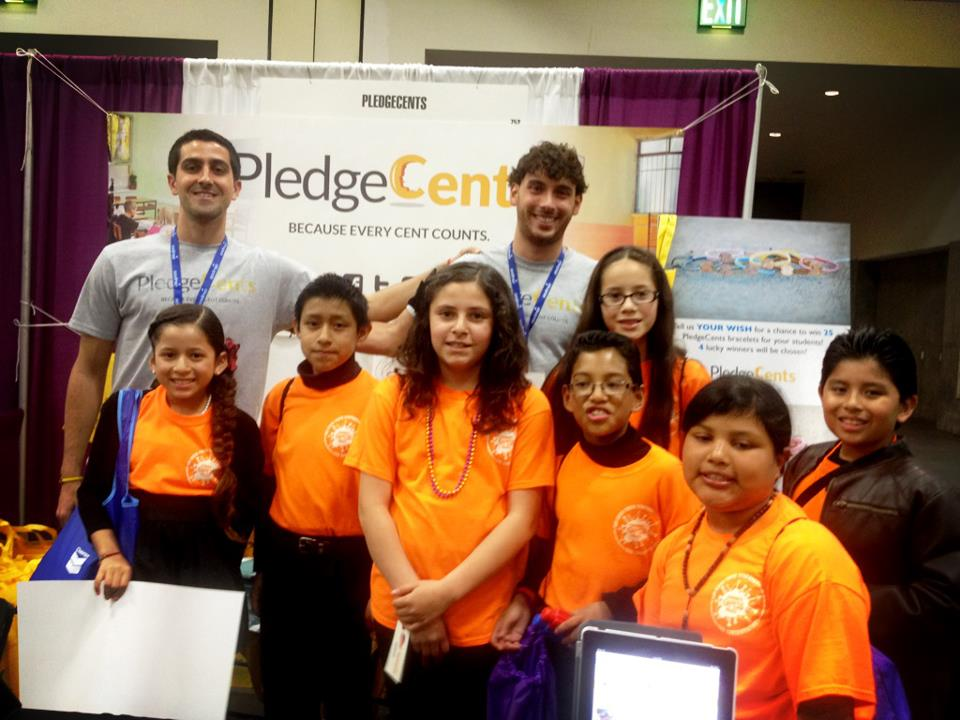 pledgecents team with students