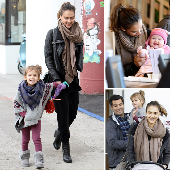 Jessica Alba and family shopping