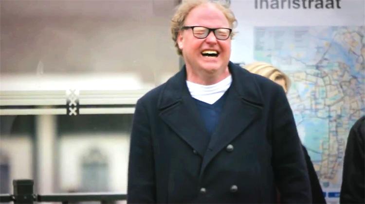 Laughing Tram Man