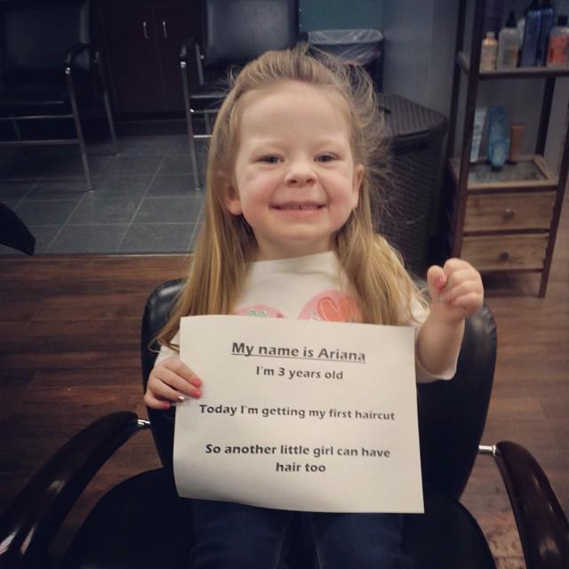 ariana donates hair for locks of love