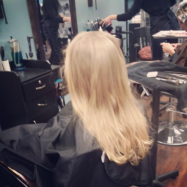 little girl's blond hair