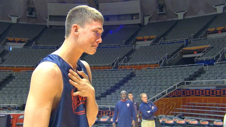 Meyers Leonard breaking down in tears seeing his brother Bailey for first time