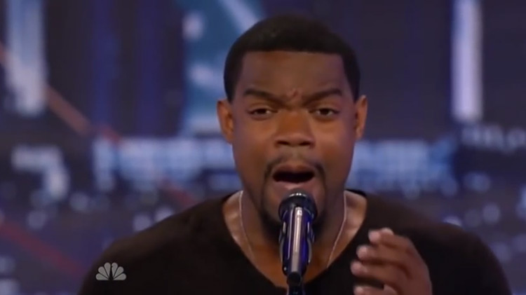 Travis Pratt singing on America's Got Talent