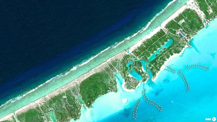 Satellite image of Bora Bora