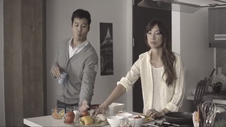 Man helping his blind wife in short film Blind Devotion