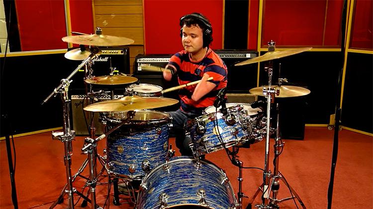 Cornel Hrisca-Munn drumming to Foo Fighters Everlong