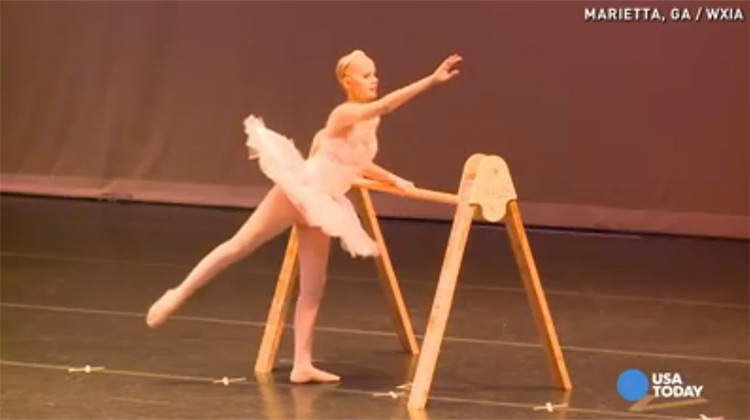 Anna Mott dancing ballet