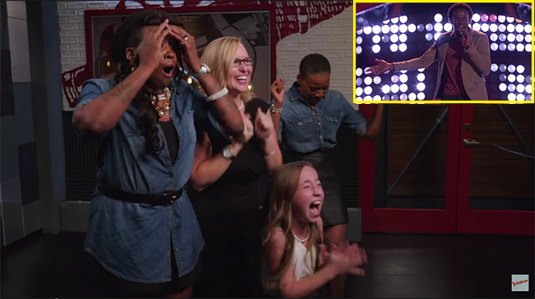 Anthony Riley's family freaking out backstage