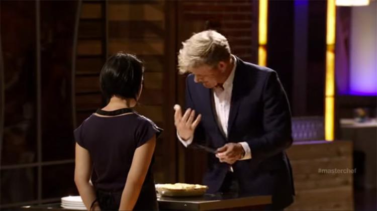 Christine Ha and Gordon Ramsay on MasterChef