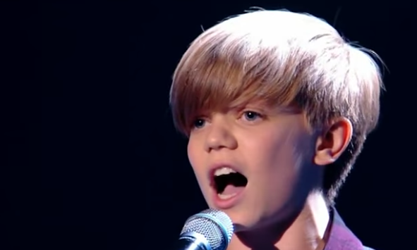 Ronan Parke singing Because of You