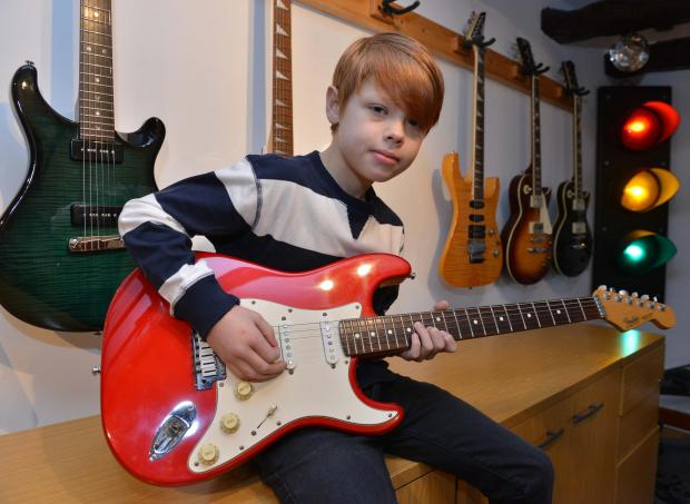 toby with guitars