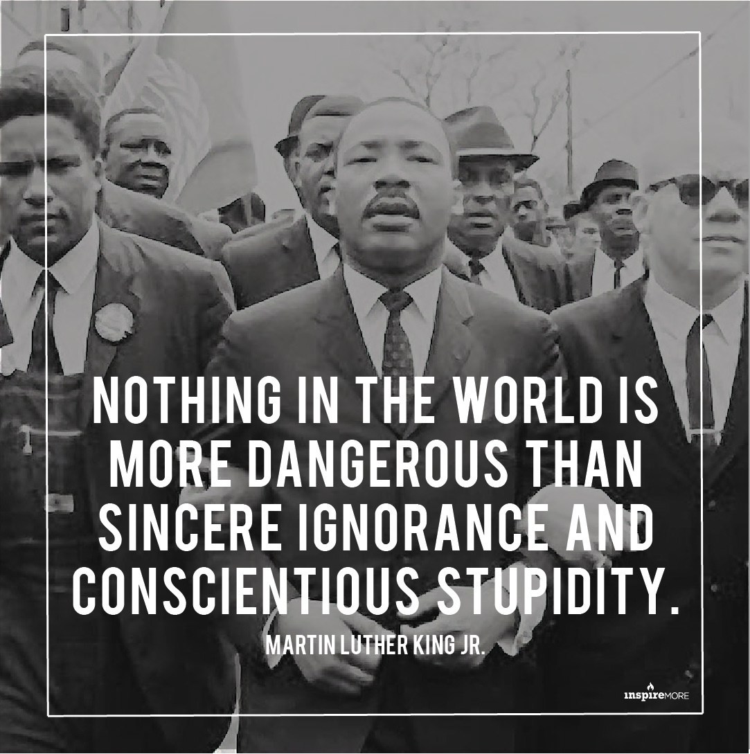 Martin Luther King Jr quote - Nothing in the world is more dangerous than sincere ignorance and conscientious stupidity.