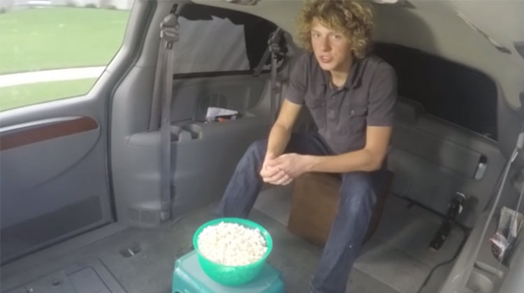 Teen Uses Popcorn Bowl To Simply Explain Einstein's Most Complicated Theory, At 5:40 My Mind Was Blown.
