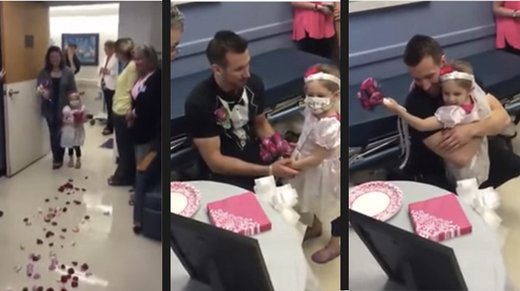 Little girl fighting cancer marrying favorite nurse