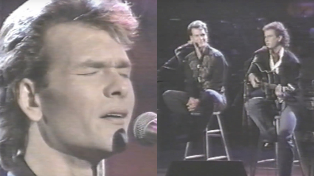 patrick swayze and larry ratlin sing love hurts